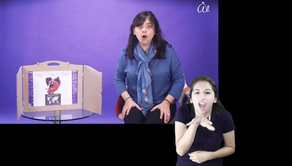 """El proyecto denominado """"Cuentos Sin Límites"""" ha incorporado la lengua peruana de señas a 15 videos de cuentos universales que estarán alojados en la cuenta de YouTube de Fundación Telefónica del Perú. (Captura de video)"""
