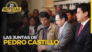 Elecciones 2021: Las juntas de Pedro Castillo