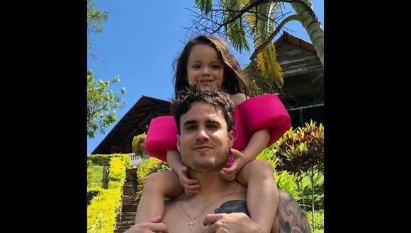 Gino Assereto y su hija Khaleesi, fruto de su relación con Jazmín Pinedo. (Instagram)