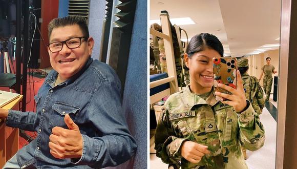 Dilbert Aguilar se mostró muy feliz por el esfuerzo de su hija llamada Tamara Aguilar. (Foto: Facebook / Dilbert Aguilar).