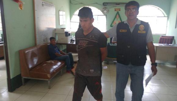 Miguel Ángel Yaipén Ipanaqué en manos de la Policía.