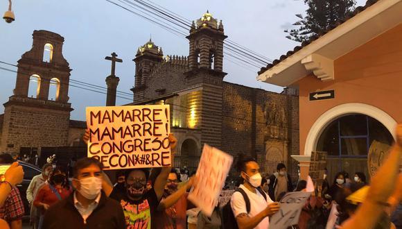En Ayacucho también se realizaron protestas. (GEC)