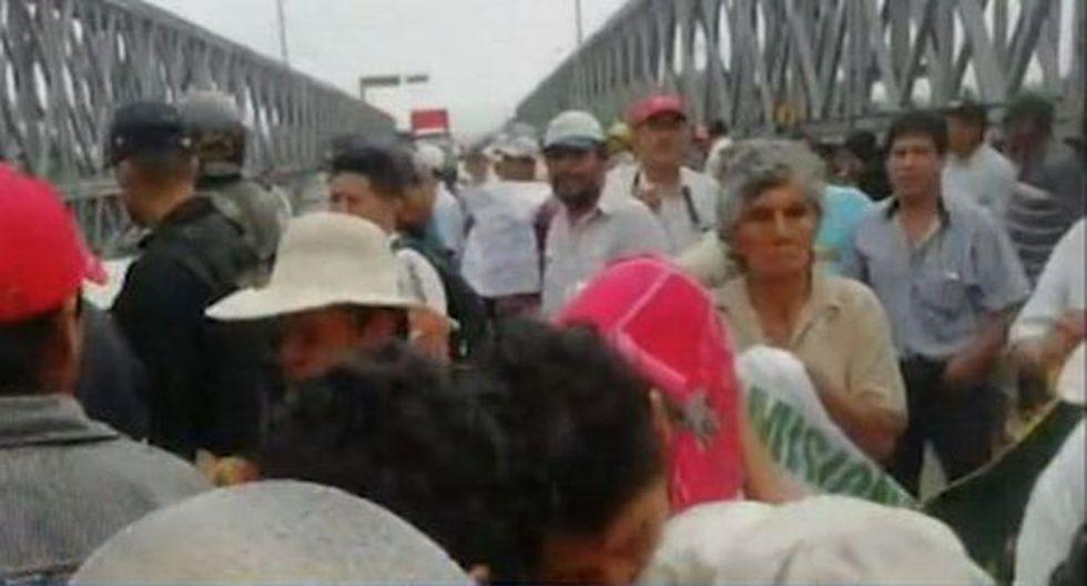 Continúan las manifestaciones por el paro agrario. (Foto: Captura/RPP Noticias)