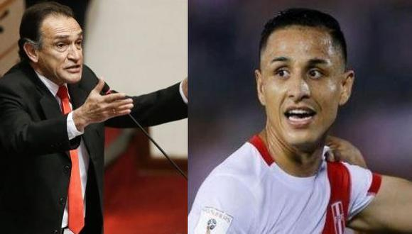 Héctor Becerril arremete denuevo contra Yoshimar Yotún por el segundo gol de Brasil. (GEC)
