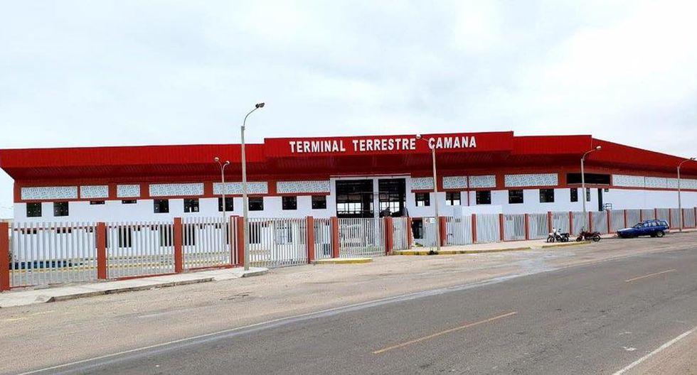 Arequipa. El Nuevo Terminal Terrestre de Camaná fue entregado en 2019 y no era utilizado. Fue elegido para atender a pacientes de Covid-19.