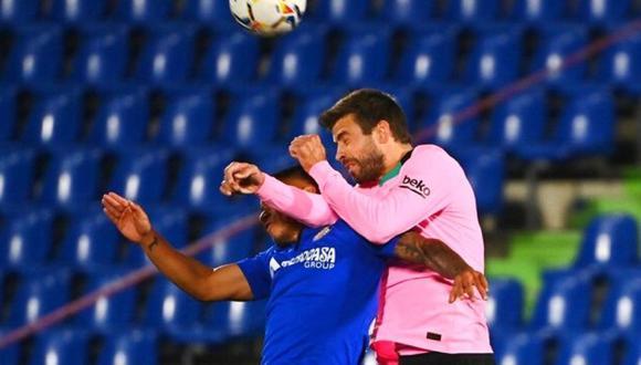 Gerard Piqué no pudo contenerse y reclamó falta de reacción de sus compañeros ante Getafe.