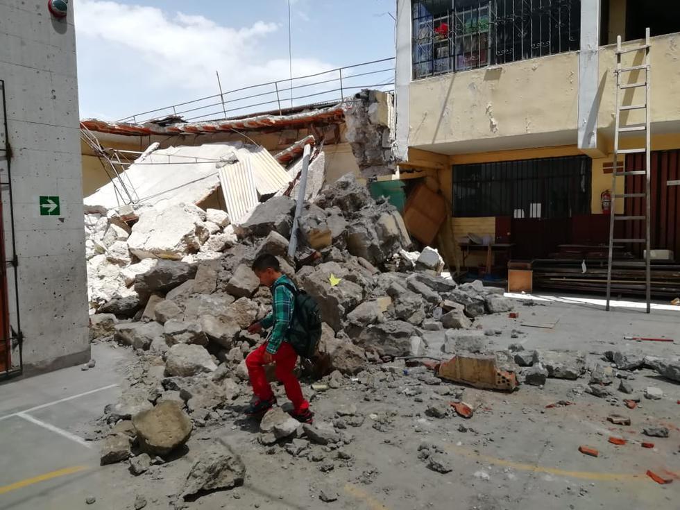 Piden que Cultura autorice la demolición de las aulas antiguas. (Miguel Idme)