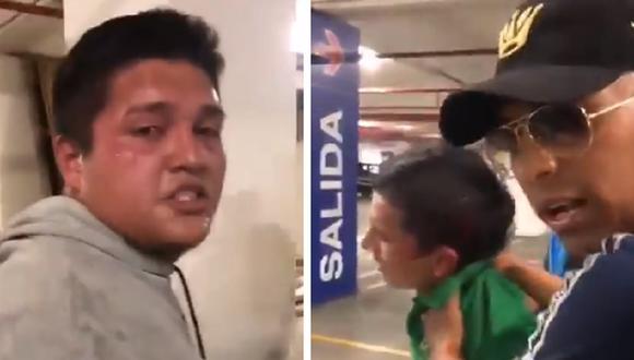 Agente que se encontraba de franco detuvo a dos colombianos implicados en pelea al exterior de Plaza Norte. (Captura)