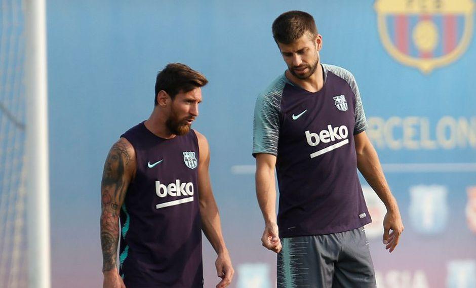 Lionel Messi y Gerard Piqué son dos de los cuatro capitanes de Barcelona esta  temporada (Foto: AFP).