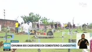 Exhuman 800 cadáveres de cementerio clandestino en Iquitos