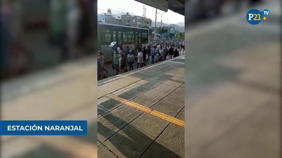 Manifestantes bloquean vía del Metropolitano por protesta que exige proyecto de agua potable