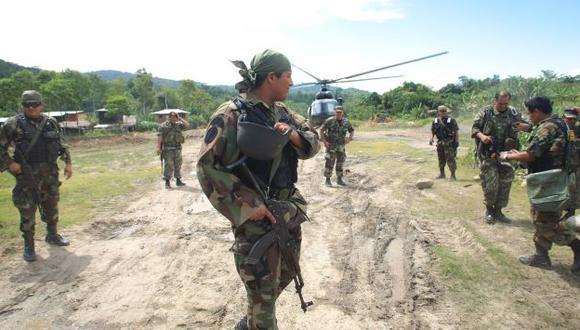 """PERSECUCIÓN. Los cientos de efectivos militares tendrán como misión """"aislar"""" a los narcosenderistas secuestradores. (Difusión)"""