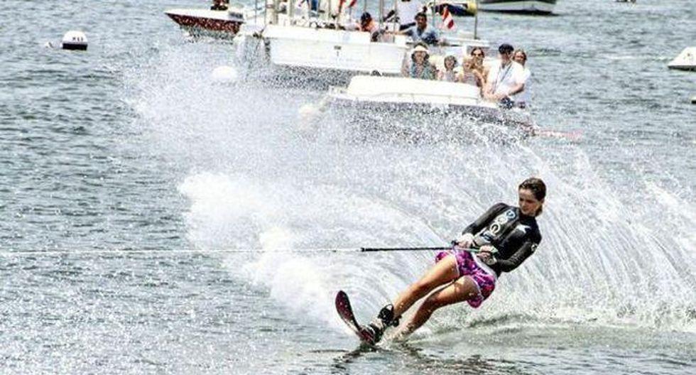 Andrea Tejada logró una medalla de oro en la categoría esquí náutico, modalidad salto. (IPD)