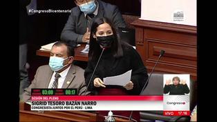 """Sigrid Bazán: """"No más suspensiones perfectas exprés"""""""