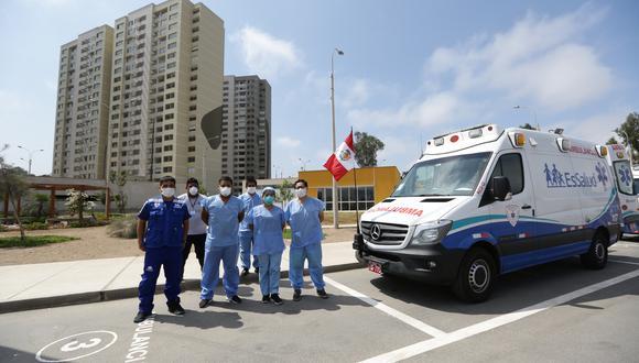 Unos 250 trabajadores de salud atienden los casos de COVID-19 en la Villa Panamericana. (Foto: Fernando Sangama/GEC)