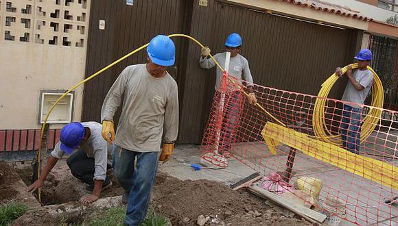 Actualmente existen solo 40,000 conexiones de gas natural domiciliario. (USI)