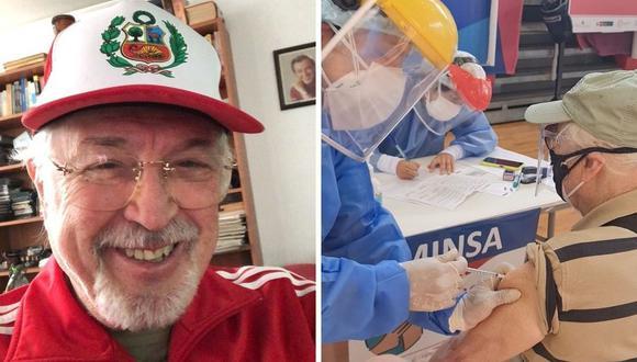 """Chiara Pinasco compartió en sus redes sociales cómo fue el proceso de vacunación de su padre """"Rulito"""" Pinasco. (Foto: Instagram @rulito1941 / @chiarapinasco)."""