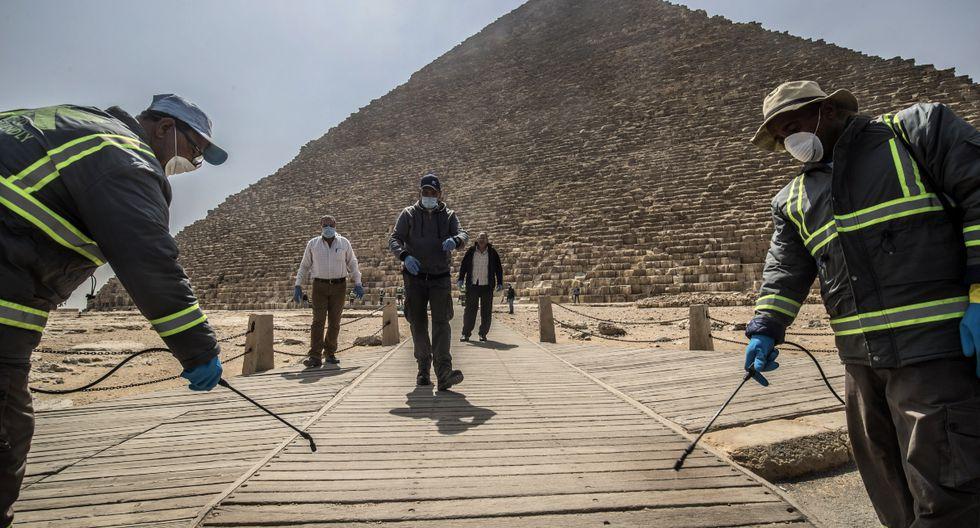 Hasta el momento Egipto tiene 366 casos de contagio del nuevo coronavirus, que ha causado 19 muertes. (AFP).