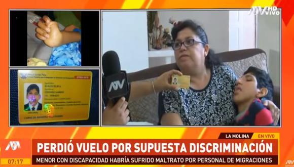 Rosario Celaya Romero, madre del menor, detalló que su hijo debía viajar el pasado fin de semana a México para recibir tratamiento por sus enfermedades. (ATV)