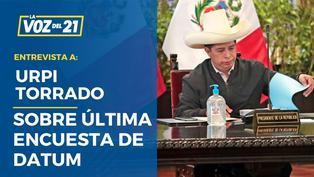 """Urpi Torrado sobre encuesta Datum: """"En el sur, Castillo bajó 12 puntos"""""""