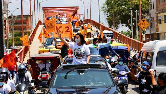 La lideresa de Fuerza Popular, Keiko Fujimori, estuvo en el norte del país. (Twitter: Keiko Fujimori)