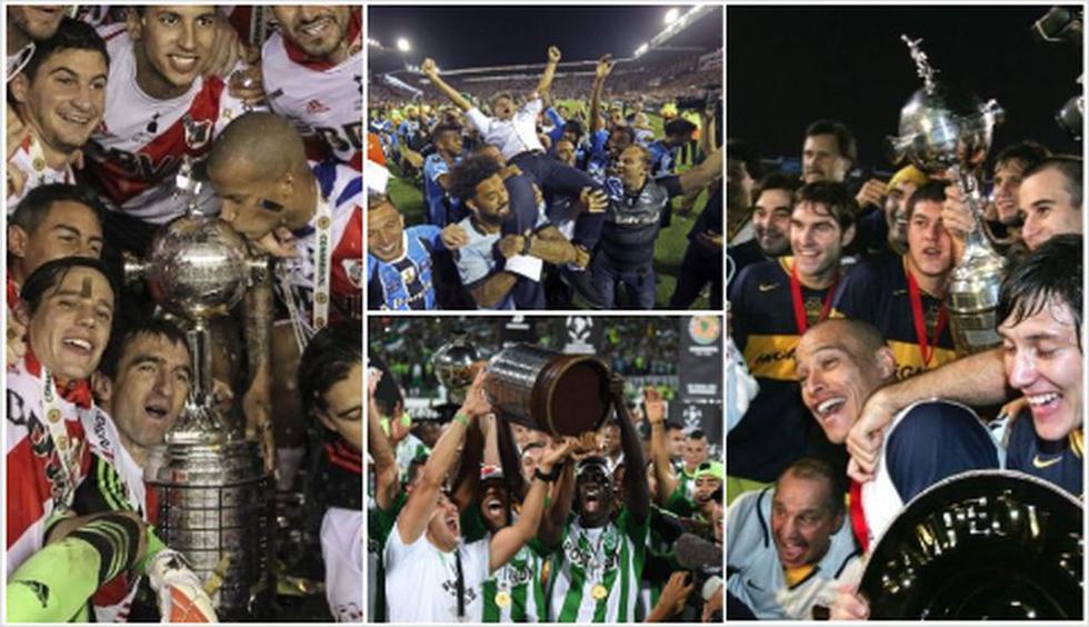 Copa Libertadores 2018: River Plate y los últimos 20 campeones del torneo. (Foto: AFP)