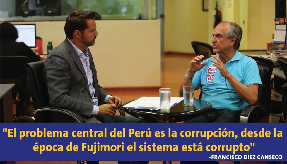 Francisco Diez Canseco fue entrevistado desde la redacción de Perú21.