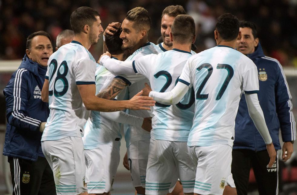 Argentina, sin Lionel Messi, venció 1-0 a Marruecos en amistoso en Tánger. (AFP)