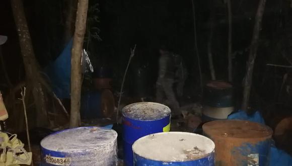 Junín: laboratorios de pasta básica de cocaína fueron destruidos por fuerzas del orden (Foto: Comando Conjunto)