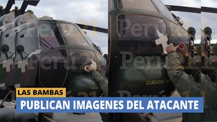 Las Bambas: Imágenes del atacante del helicóptero de la comitiva ministerial