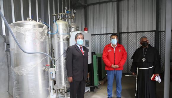 La Libertad: entra en funcionamiento segunda planta de oxígeno del hospital de Huamachuco (Foto: Gore La Libertad)