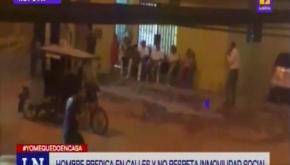 Hombre sale a predicar en la calle pese a cuarentena y vecinos se acomodan para escucharlo en Chiclayo [VIDEO]