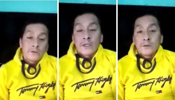 """Miguel Ángel Campos, """"La Bibi"""", necesita ayuda para recibir su tratamiento contra el COVID-19. (Captura de pantalla / América TV)"""