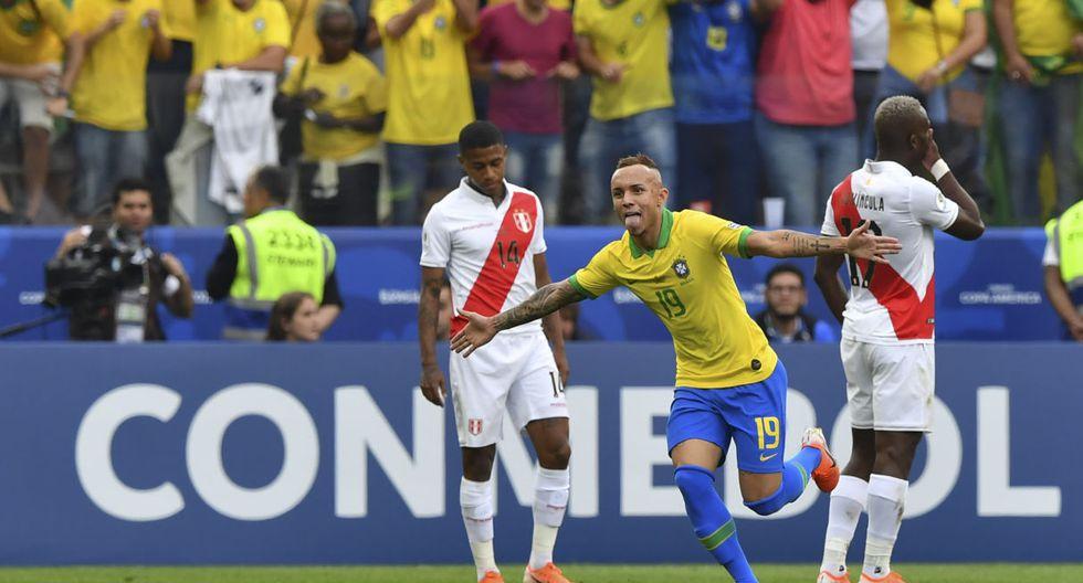 Perú cayó 5-0 frente a Brasil en la tercera fecha del Grupo A de la Copa América 2019. (AFP)