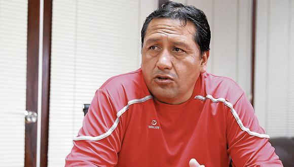 Alfredo Velásquez. Secretario general del Sutep. (Perú21)