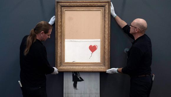 El globo rojo era mi amigo. (Fotos: AFP)