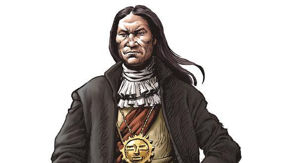 Ilustración de Túpac Amaru II por Mechaín