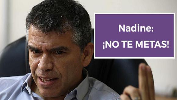 Julio Guzmán le dijo 'no te metas' a Nadine Heredia en redes sociales. (EFE/Facebook)