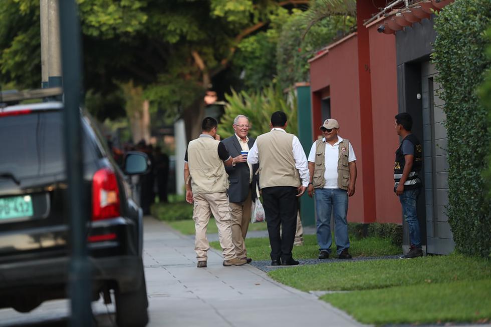 PPK en su más reciente pública tras allanamiento a sus viviendas. (Perú21/Geraldo Caso)