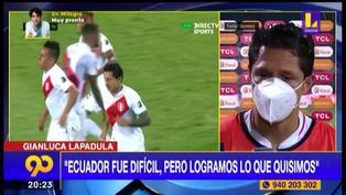 "Gianluca Lapadula tras empate: ""Fue un partido muy difícil"""