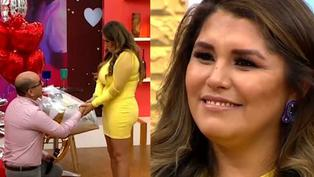 Lady Guillén recibió inesperada propuesta de matrimonio en vivo