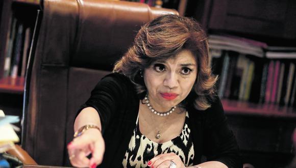 ¿Qué pasó? Fiscal de la Nación, Zoraida Ávalos, deberá aclarar motivos de cuestionada decisión de la Fiscalía Anticorrupción. (Foto: GEC)
