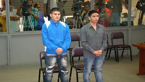 Bryan Romero y Redy Leiva en el inicio del juicio oral. (Difusión)