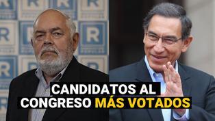 Elecciones 2021: Estos son los candidatos al congreso más votados, según la ONPE