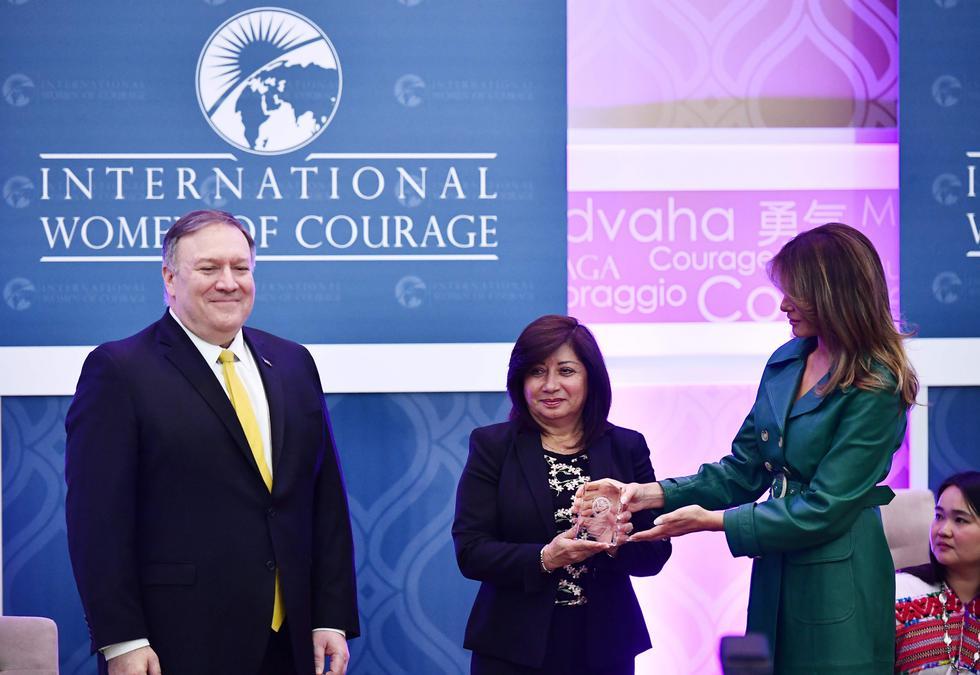 Fiscal peruana Flor de María Vega recibió el premio 'Mujeres de coraje' .
