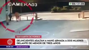 Delincuentes asaltan a dos mujeres que iban con una menor de 3 años