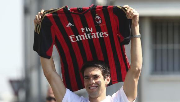 LEJOS DEL REAL MADRID. Kaká regresó al Milan. (Difusión)