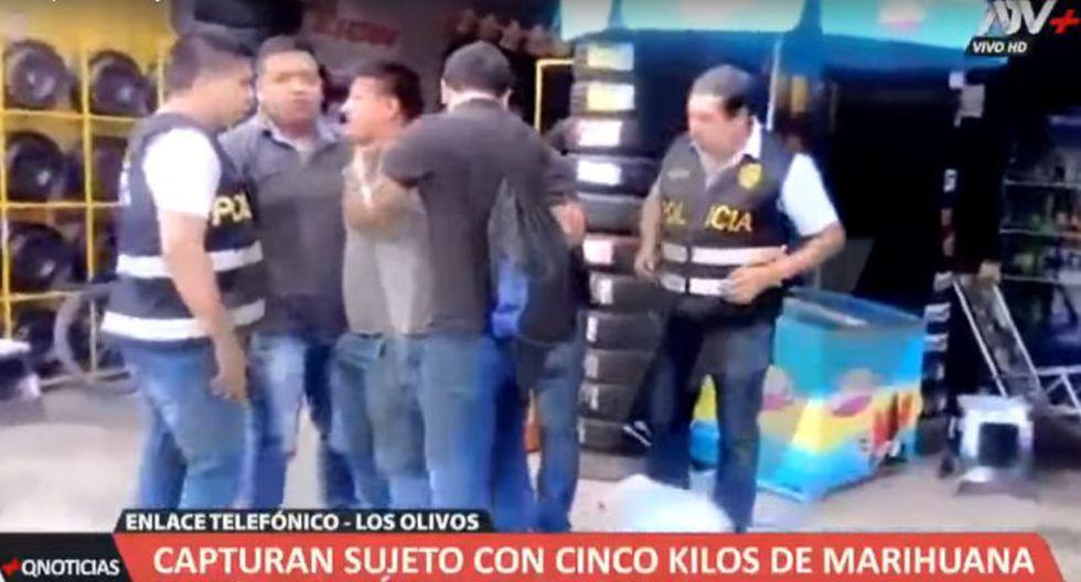 El sujeto cobraba 100 dólares por transportar la droga, según ATV+. (Foto: Captura de pantalla)