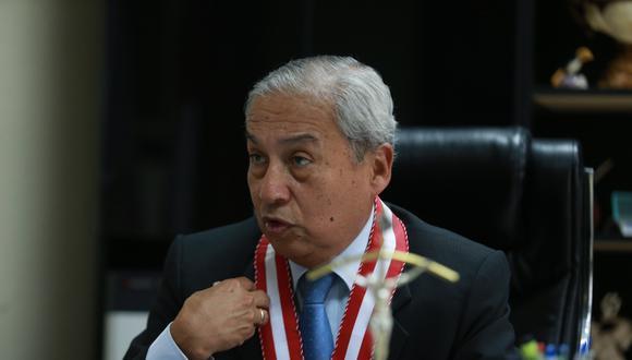 """""""Vamos a formular una serie de opiniones, vamos a formar comisiones a fin de poder mejorar el sistema"""", señaló Pedro Chávarry. (Foto: USI)"""