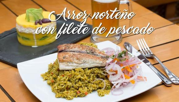 Arroz norteño con filete de pescado   VIDEO. (Foto: A comer)